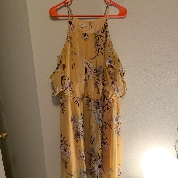 Maurices Dresses & Skirts - Yellow Floral High Low Chiffon dress
